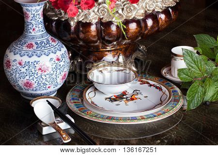 tableware tableware, chinese, china, design, still life, vase table nice restaurant for a holiday