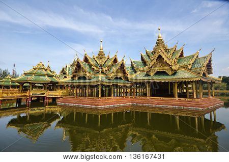 Pavilion Of The Enlightened In Ancient City In Bangkok