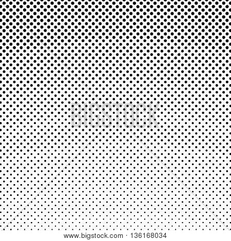 Pop Art Background ,Black Dots on a White Background, Gradient from the Top Down, Halftone Background, Retro Style, Vector Illustration
