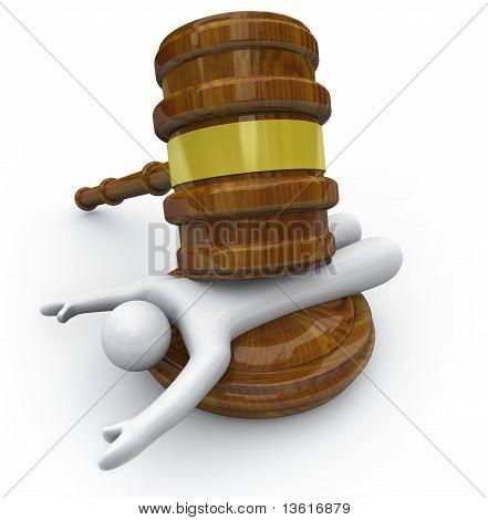 Punishment - Gavel Smashing Criminal