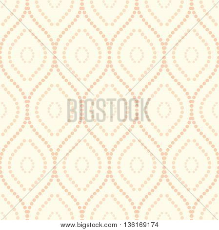 Seamless ornament. Modern geometric pattern with repeating colored dotted wavy lines