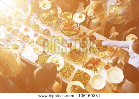 Meal Food Party Celebrate Cafe Restaurant Event Concept