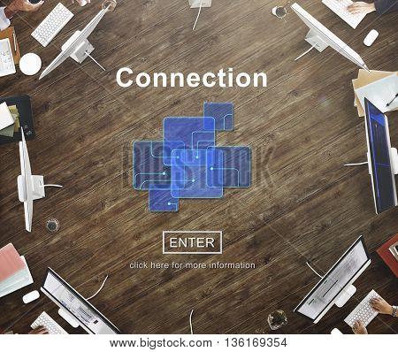 Connection Internet Online Websie Web Page Concept