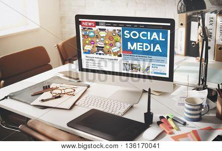 Social Media Communication Networking Online Concept