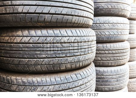used tyres stack