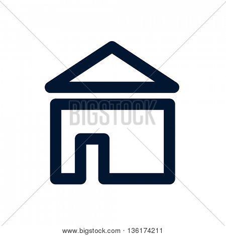 A house icon on white