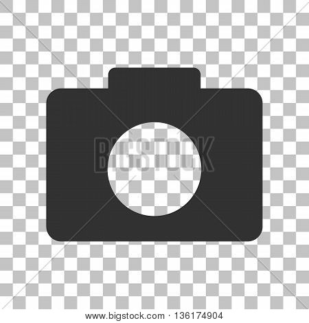 Digital camera sign. Dark gray icon on transparent background.