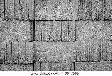 A concrete block wall for background texture