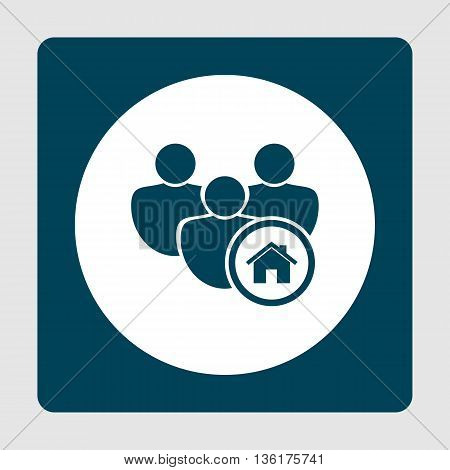 User Home Icon In Vector Format. Premium Quality User Home Symbol. Web Graphic User Home Sign On Blu