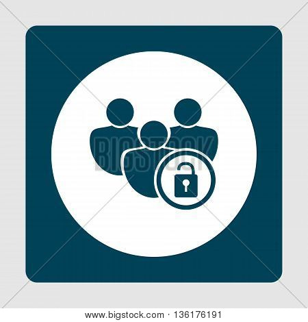 Lock Open Icon In Vector Format. Premium Quality Lock Open Symbol. Web Graphic Lock Open Sign On Blu