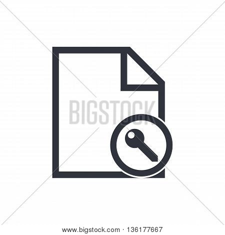 File Access Icon In Vector Format. Premium Quality File Access Symbol. Web Graphic File Access Sign