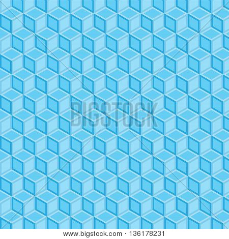 blue double filled geometric pattern background vector illustration image with light blue squares and dark blue squares