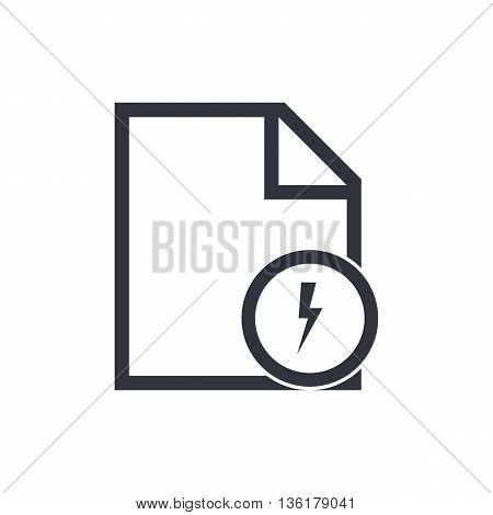 File Flash Icon In Vector Format. Premium Quality File Flash Symbol. Web Graphic File Flash Sign On
