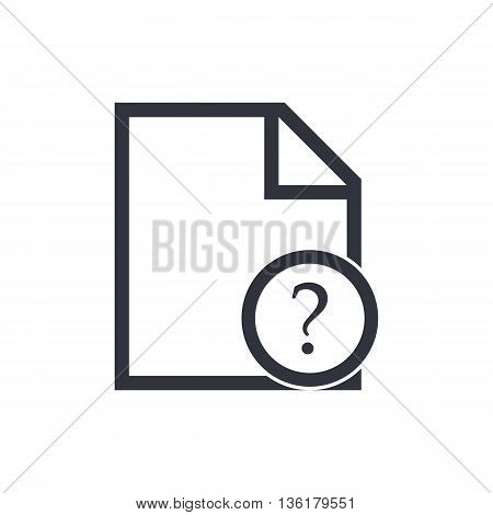 File Help Icon In Vector Format. Premium Quality File Help Symbol. Web Graphic File Help Sign On Whi