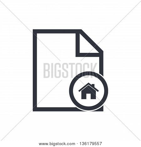File Home Icon In Vector Format. Premium Quality File Home Symbol. Web Graphic File Home Sign On Whi
