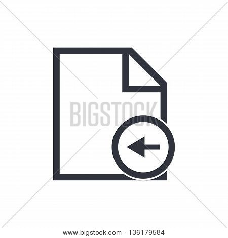 File Left Icon In Vector Format. Premium Quality File Left Symbol. Web Graphic File Left Sign On Whi