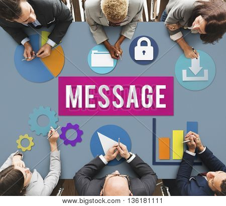 Message Information Communication Sharing Concept