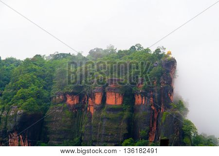 misty mountain in the morning abstract background