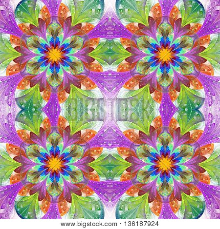 Multicolored seamless background in stained glass window style. You can use it for invitations notebook covers phone case postcards cards wallpapers and so on. Artwork for creative design art and entertainment.