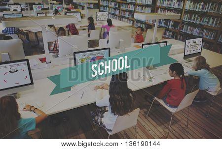 School Education Students Study Lesson Concept