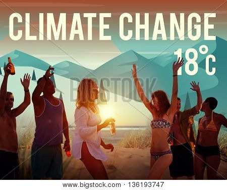 Climate Change Natural Planet Temperature Concept