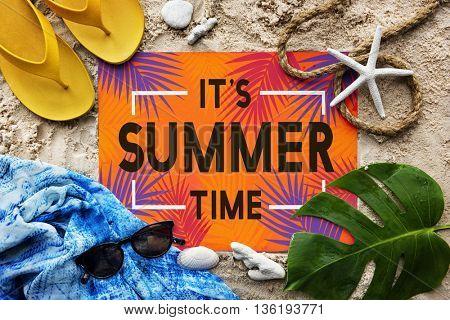 Summer Time Beach Adventure Concept