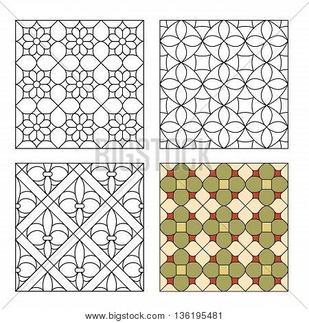 Variants of decorative lattices for stained glass
