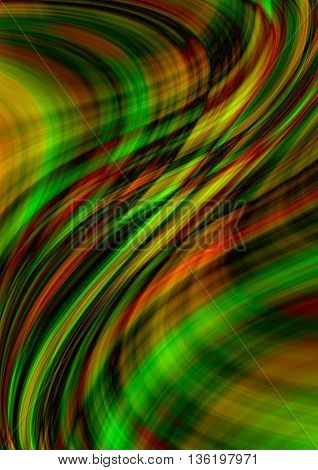 Motley background with intersecting luminous colored waves and lines