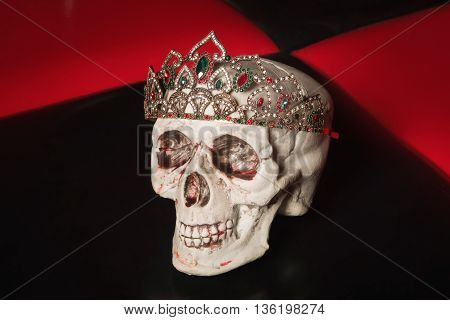 Skull With A Diadem With Large Stones.