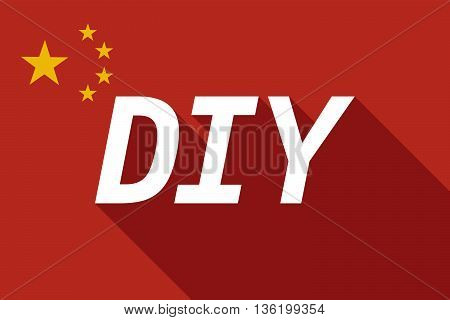 Long Shadow China Flag With    The Text Diy