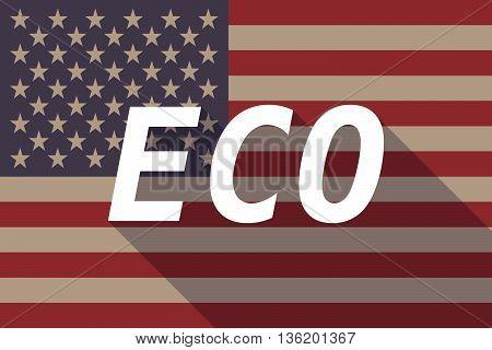 Long Shadow Usa Flag With    The Text Eco