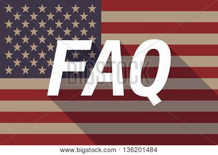 Long Shadow Usa Flag With    The Text Faq