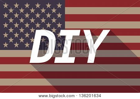 Long Shadow Usa Flag With    The Text Diy