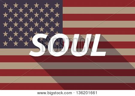 Long Shadow Usa Flag With    The Text Soul