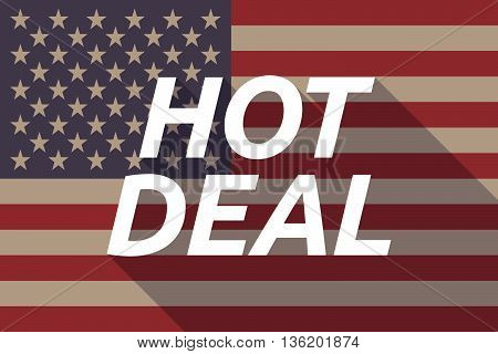 Long Shadow Usa Flag With    The Text Hot Deal
