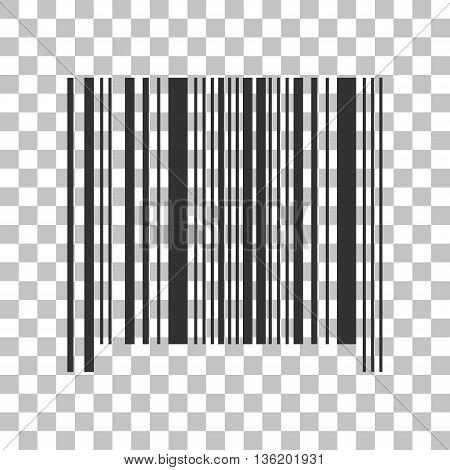 Bar code sign. Dark gray icon on transparent background.