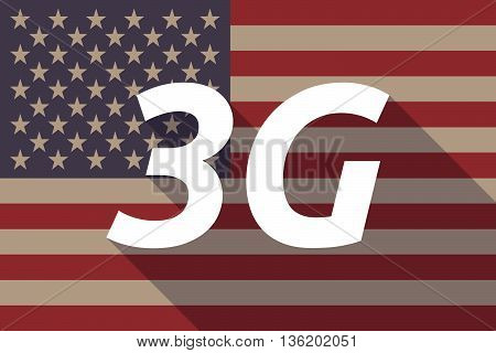 Long Shadow Usa Flag With    The Text 3G
