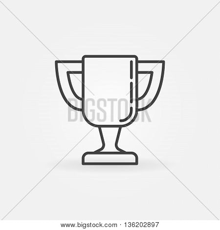 Trophy cup line icon. Vector minimal goblet symbol or sign. Linear cup pictogram or logo element