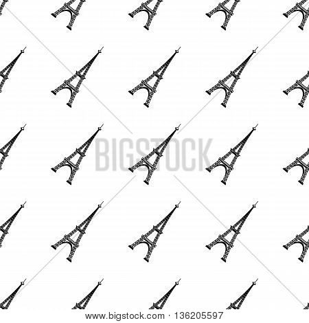 Eiffel Tower Seamless Background. French Tower Pattern