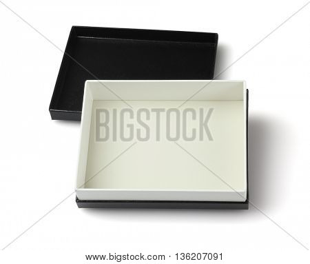Empty Black gift Box on White Background