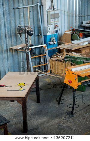 Part of carpenters workshop