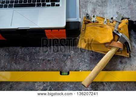 Carpenters tools on a table
