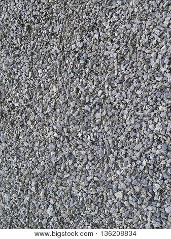 Granite gravel texture background in summer time
