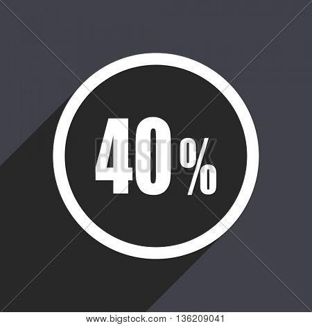 Flat design gray web sale vector icon