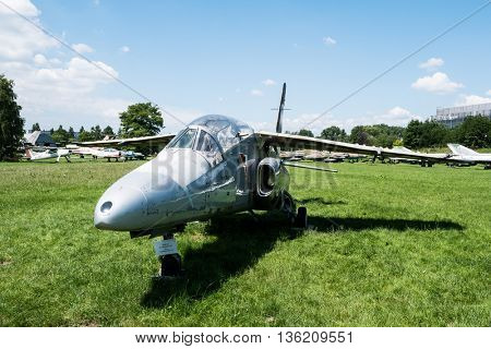 Krakow, Poland - July 02, 2015: jet model in Aviation Museum in Krakow