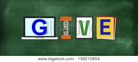 Give Donations Aid Charity Design Word Concept