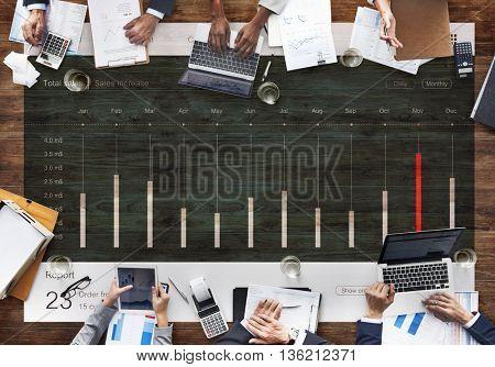 Dashboard Diagram Analysis Statistics Concept