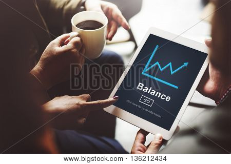 Balance Graph Diagram Tablet Screen Concept