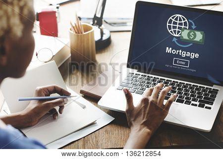 Mortgage Payment Debt Finance Website Online Concept