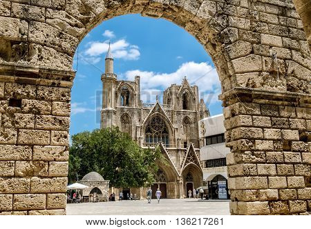 May 24 2016.Famagusta.St. Nicholas Cathedral